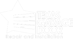 Texas Garage Door Logo White